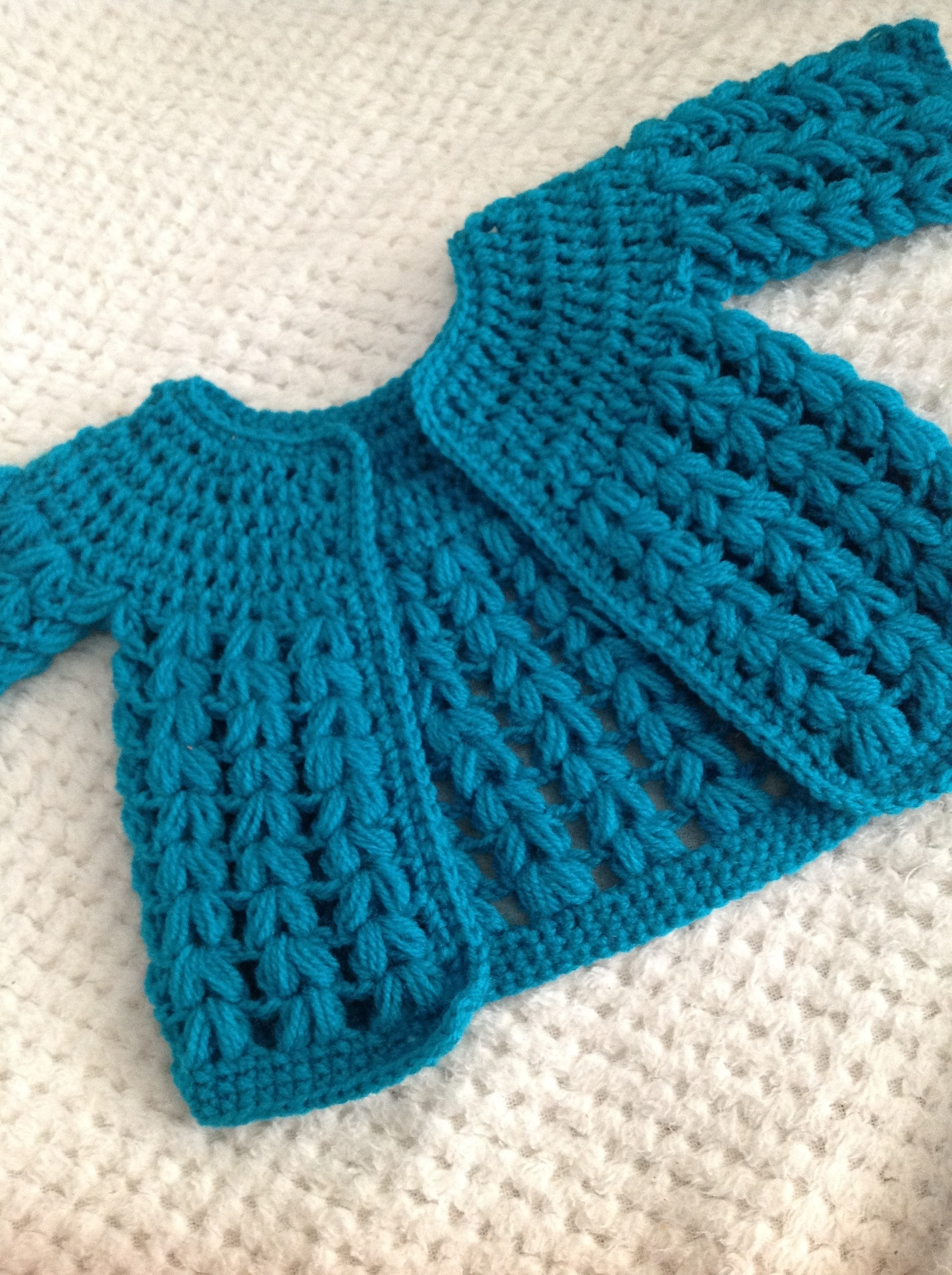 Crochet Baby Sweater : Free crochet cardigan pattern ? Slightly adapted for the ?catwalk ...